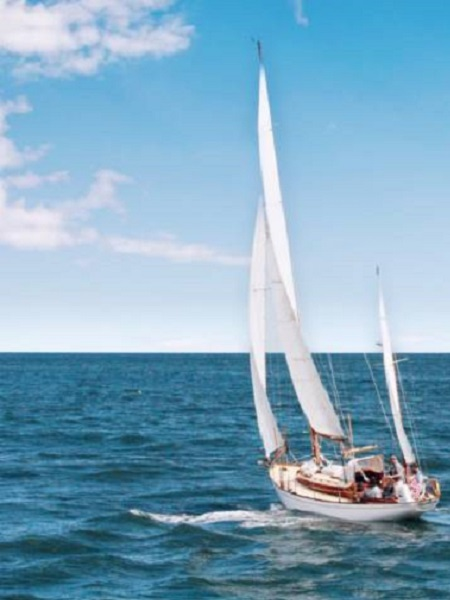 le barche a vela navigano controvento