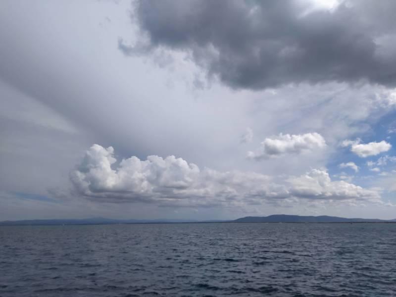 la pioggia che veniva dal mare
